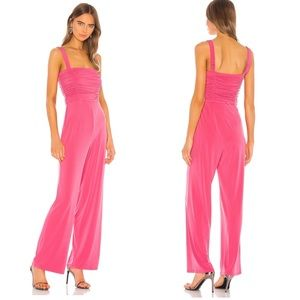 h:ours Rayne Pink Jumpsuit NWT Size Medium